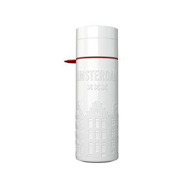Image of Printed Eco Join The Pipe City Water Bottle Amsterdam White