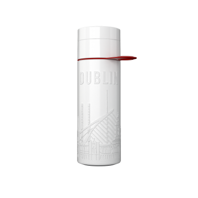 Image of Promotional Eco Join The Pipe City Water Bottle Dublin White