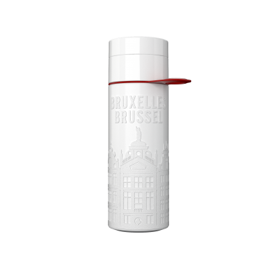 Image of Promotional Eco Join The Pipe City Water Bottle BRUSSELS White