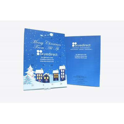 Image of Promotional Advent Calendars - Traditional 24 Christmas Milk Chocolates