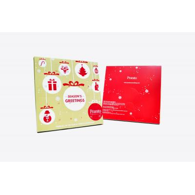 Image of Promotional Christmas Advent Calendars - desktop size chocolate advent calendar all over printed