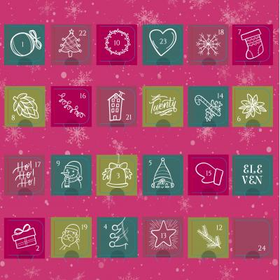 Image of Promotional Chocolate Advent Calendar Stock Design- Chic Christmas Desktop Size