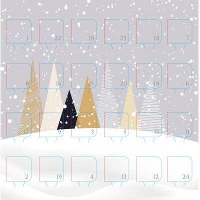 Image of Branded Desk Top Chocolate Advent Calendar Pre Designed -  Christmas Tree