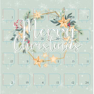 Image of Promotional Desk Top Chocolate Advent Calendar Pre Designed - Holly And The Ivy