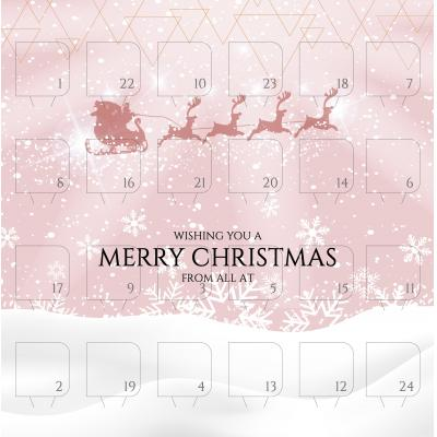 Image of Promotional Desk Top Chocolate Advent Calendar Pre Designed - The Night Before Christmas
