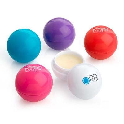 Image of Promotional Ball Shaped Natural Lip Balm Made In The UK