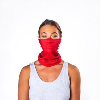 Image of Promotional Antiviral Bumpaa Snood Face Cover Red