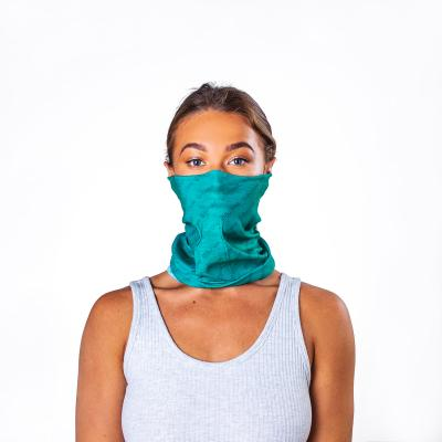 Image of Branded Antiviral Bumpaa Snood Face Cover Teal