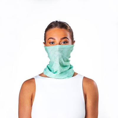 Image of Printed Antiviral Bumpaa Snood Face Cover Mint Green