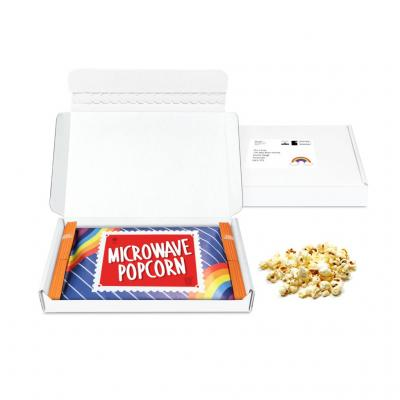Image of Promotional Letter Box Microwave Popcorn Gift Box Delivered Direct To Your Clients