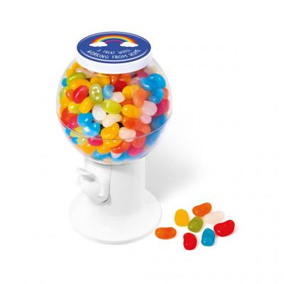Image of Promotional Sweet Dispenser Filled With Jolly Beans Individually Delivered To Your Clients