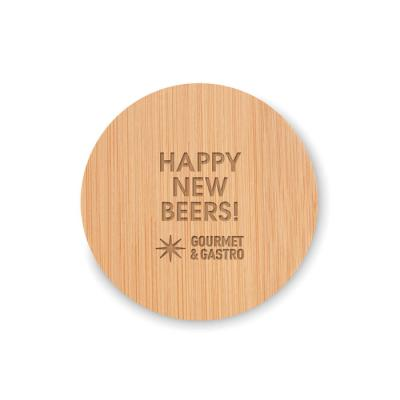 Image of Promotional Bamboo Drinks Coaster With Bottle Opener