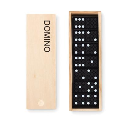 Image of Promotional Traditional Domino's Game Set Presented In A Wooden Case