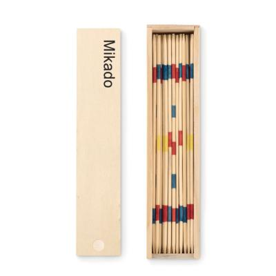 Image of Promotional Traditional Mikado Pick Up Sticks Presented In A wooden Gift Box