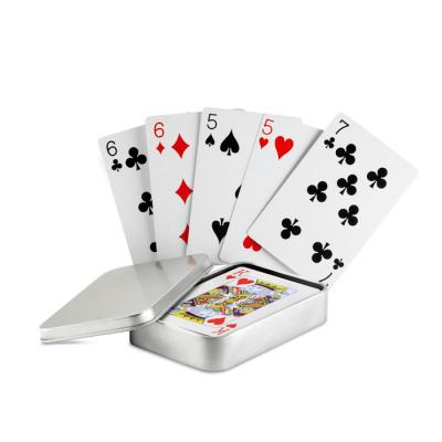 Image of Promotional Classic Playing Cards Presented In A Silver Tin Gift Box