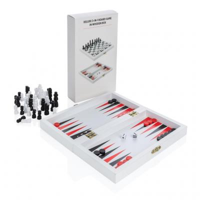Image of Promotional Traditional Board Game Gift Set With Chess, Backgammon And Checkers