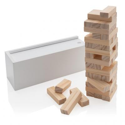Image of Promotional Traditional Wooden Stacking Blocks Games