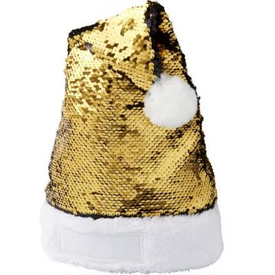 Image of Promotional Santa Hat With Gold And Black Sequins