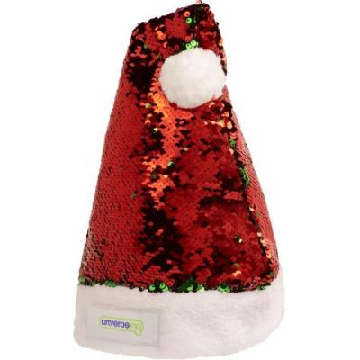 Image of Promotional Santa Hat With Red And Green Sequins