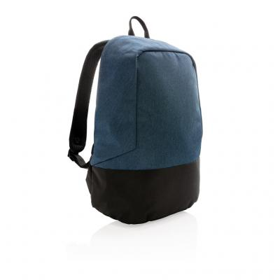 Image of Promotional Blue RFID Anti Theft Backpack PVC Free Customised With Your Brand Logo