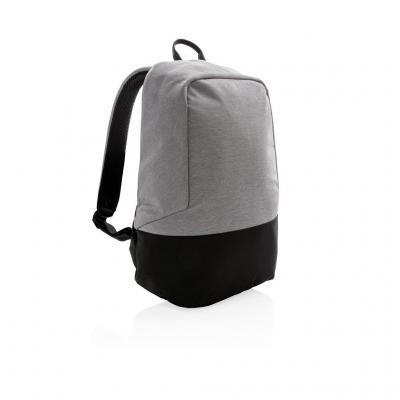 Image of Promotional Grey RFID Anti Theft Backpack PVC Free Branded With Your Brand Logo