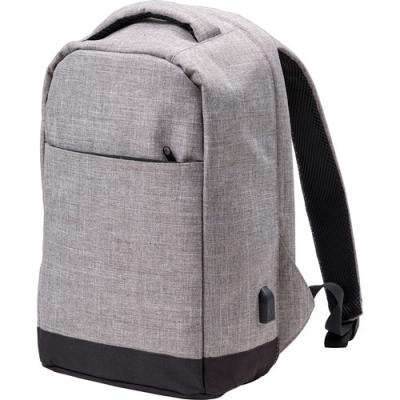 Image of Promotional 600D Polyester Anti-theft Backpack With A Laptop Compartment