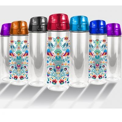 Image of Promotional Custom Printed Vegas Tritan Water Bottle With Handle. Reusable Branded Plastic Bottle