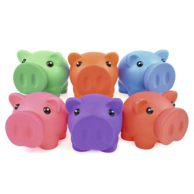 Image of Printed Rubber Nose Piggy Bank. Soft Feel Piggy Bank