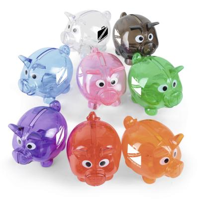 Image of Promotional Piglet Bank - Mini Piggy Bank Amber, Black, , Green, Pink, Purple, Red, Translucent