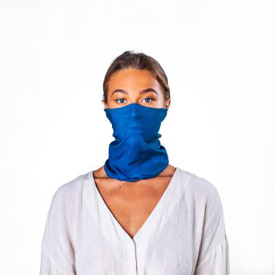 Image of Express Printed Bumpaa Snood Face Covering With Antiviral Technology Lake Blue Branded With Your Company Logo