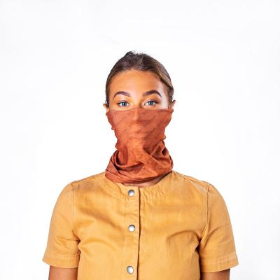 Image of Express Printed Bumpaa Snood Face Covering With Antiviral Technology Earth Brown Customised With Your Company Logo