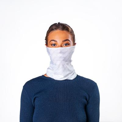 Image of Express Printed Bumpaa Snood Face Covering With Antiviral Technology White