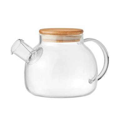 Image of Promotional Tea Pot Made From Eco Borosilicate Glass And Bamboo