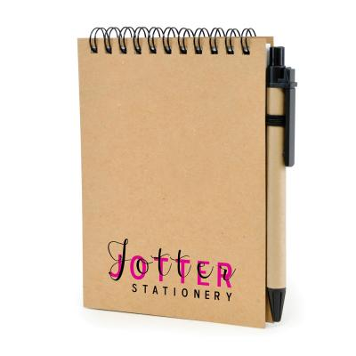 Image of Express Printed Eco Recycled Jotter Pad And Pen Set