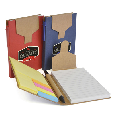 Image of Express Printed Eco A6 Pocket Notebook With Pen And Sticky Notes