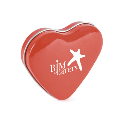 Image of Promotional Mints In A Express Printed Heart Shaped Gift Tin