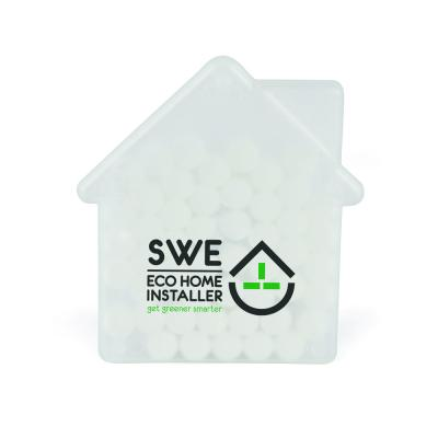 Image of Promotional Mints In A Express Printed House Shaped Gift Container