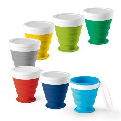 Image of Promotional Foldable Silicone Travel Cup 250ml