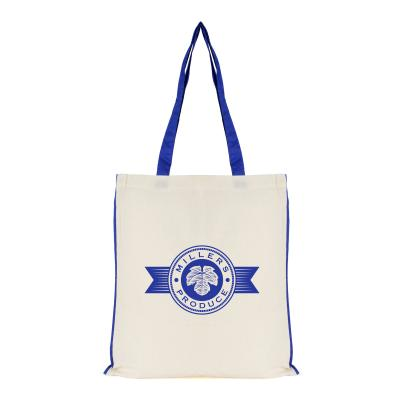 Image of Promotional Reusable Shopper Bag Natural Cotton With Coloured Pipping