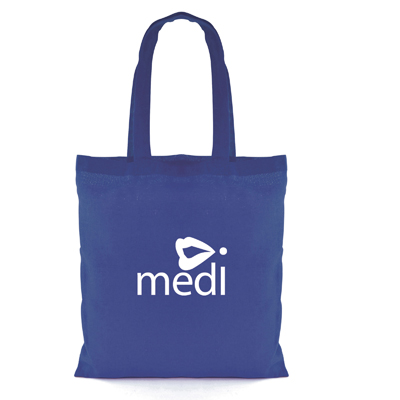 Image of Promotional Reusable Cotton Shopping Bag Budget Coloured Shopper