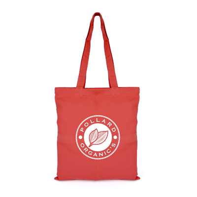 Image of Promotional Reusable Cotton Shopping Bag With Long Handles