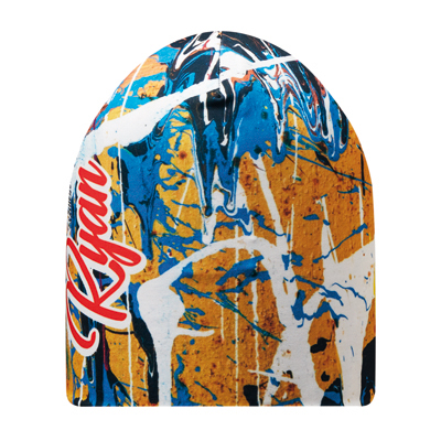 Image of Promotional Beanie Hat With All Over Full Colour Print