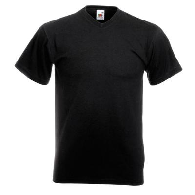 Image of Promotional Mens Cotton T Shirt With V Neck And Short Sleeves