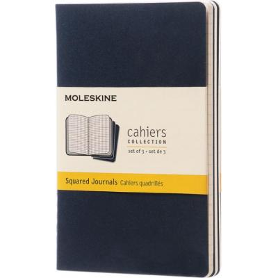 Image of Branded Moleskine Cahier Journal Notebook Pocket A6 Square Paper