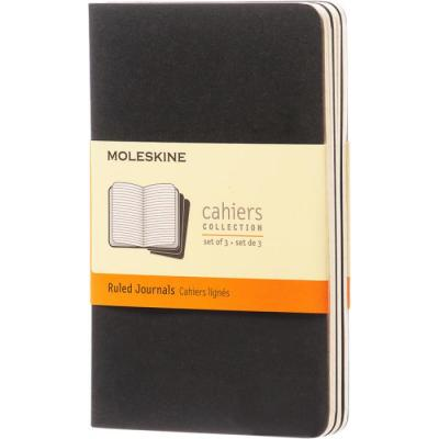 Image of Embossed Moleskine Cahier Journal Notebook Pocket A6 Lined Paper