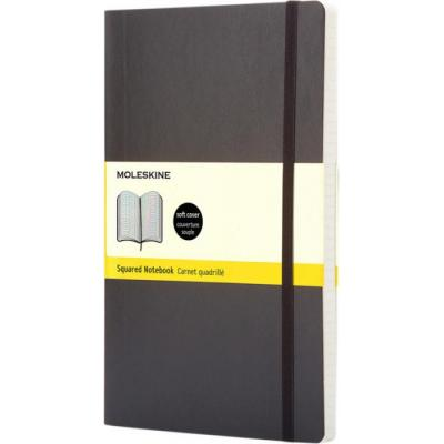 Image of Branded Moleskine Classic Pocket Notebook With Soft Cover And Squared Paper