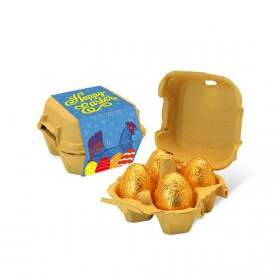 Image of Promotional Milk Chocolate Easter Eggs Presented In A Eco Egg Carton