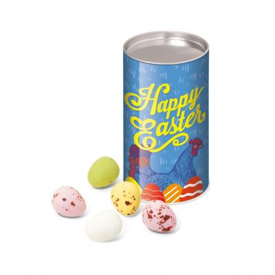 Image of Promotional Easter Mini Chocolate Eggs Presented In A Fully Branded Snack TubePromotional Easter Mini Chocolate Eggs Presented In A Fully Branded Snack Tube