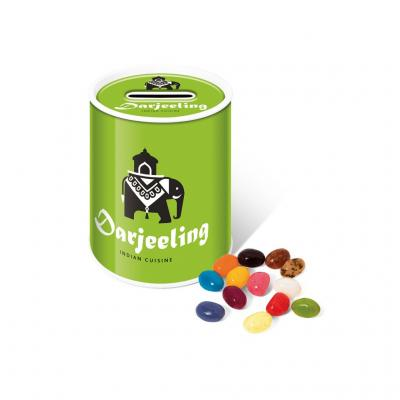 Image of Promotional Jelly Beans Sweets Presented In A Reusable Money Box Gift Tin