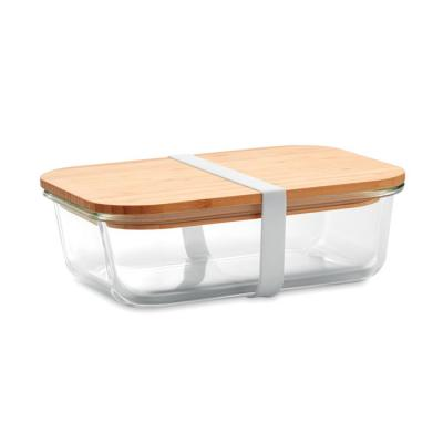 Image of Promotional Glass Lunchbox With Bamboo Lid